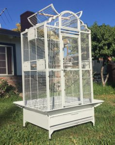 New Large Wrought Iron OpenClose Play Top Bird Parrot Cage Include Metal Seed Guard Solid Metal Feeder Nest Doors